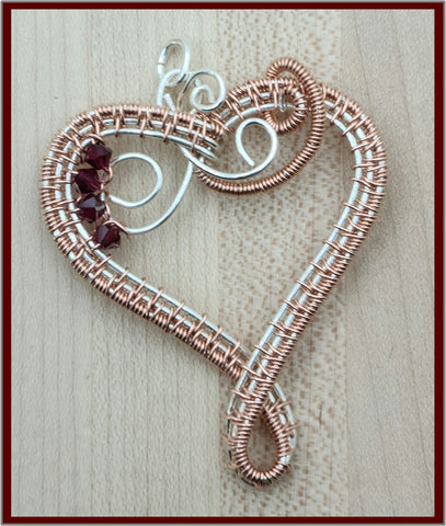 woven wire heart