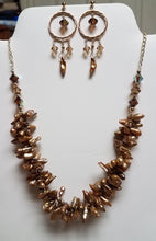 Twisted-Gold-Spike-Pearl-Swarovski-Crystal-Necklace-Matching-Earrings