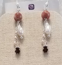 Peach-Hued-Freshwater-Pearls-Swarovski-Crystals-Earrings