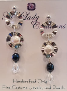 Raven-Teal-White-Freshwater-Pearl-Earrings-Sterling-Silver-Swarovski-Crystals