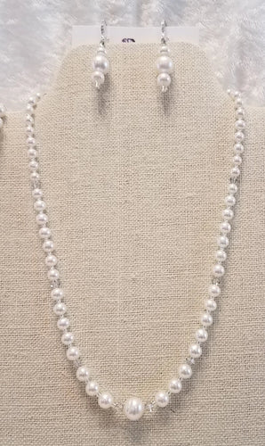 Graduated-Freshwater-Pearls-Swarovski-Crystal-Necklace-Earrings-Wedding-bracelet