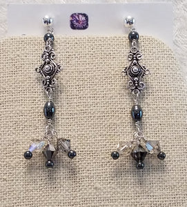 Impressive-Hematite-Swarovski-Earrings-Sterling-Silver