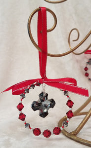 Christmas-Ornament-Swarovski-Greek-Cross-Red-Scarlet