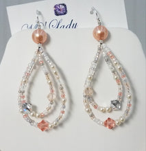 Swarovski-Crystals-Pearls-Miyuki-Seed-Beads-Earrings-Rose-Peach-Loop