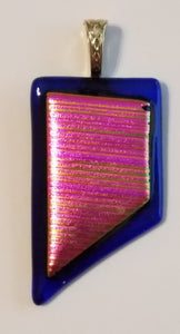 Fushia-Blue-Fused-Glass-Pendant