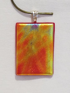 Gorgeous Sunrise, Sunset Dichroic Fused Glass Pendant