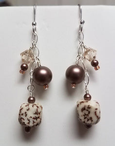 Antique-Copper-Ceramic-&-Salwag-Seed-Earrings