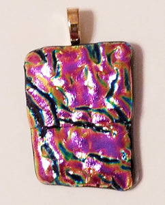 fused-glass-pendant-dichroic-fushia-black-gold