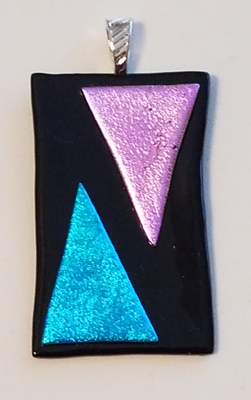 Amethyst-Turquoise-Triangles-Fused-Glass-Pendant