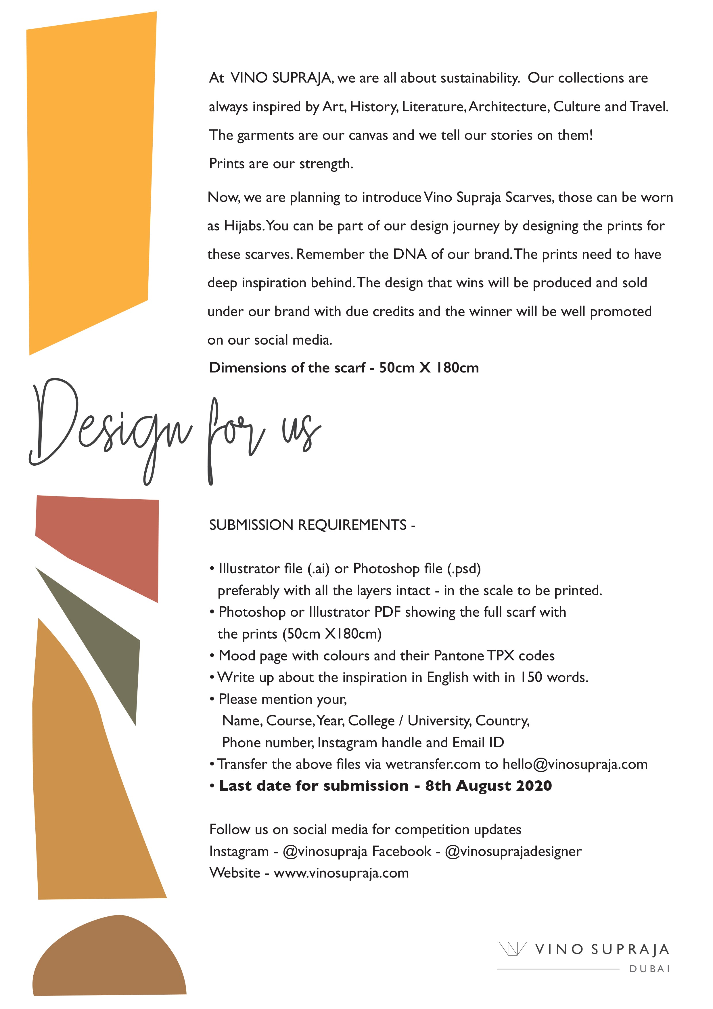VINOSUPRAJA-DESIGN FOR US-SUSTAINABLEFASHION