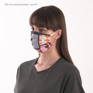 SET OF 4 ORGANIC COTTON FACE MASKS - NON MEDICAL