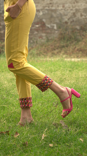 THE WING-TIP YELLOW PANTS - AED 449