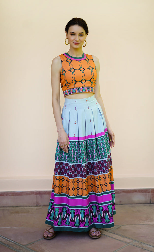 THE DECO VIBE LONG SKIRT