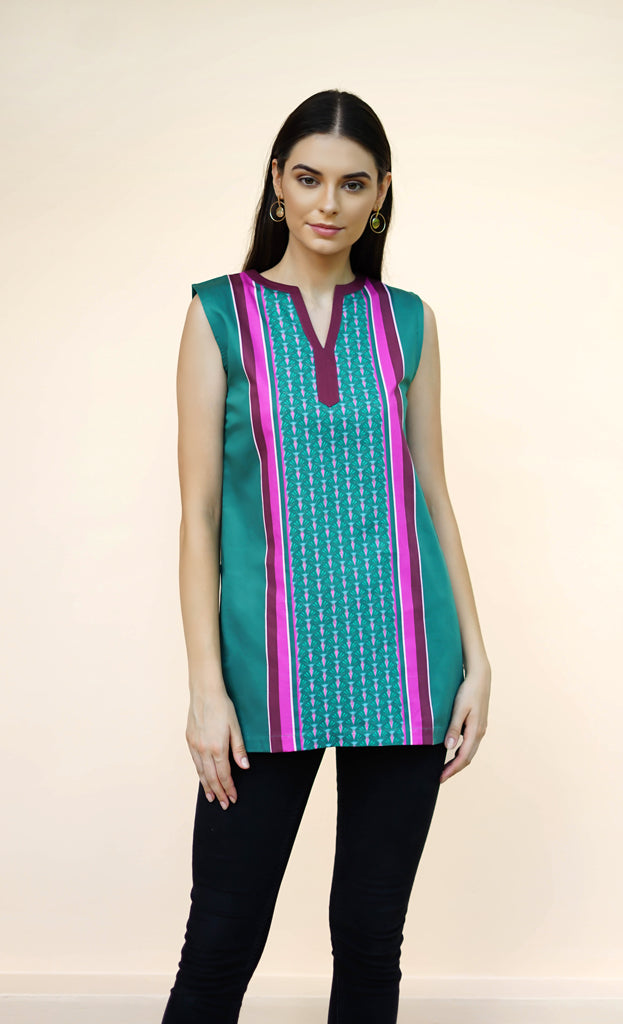THE GO GREEN TUNIC - SLEEVELESS