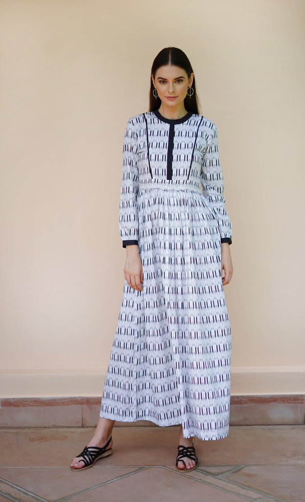 THE DECO LONG DRESS
