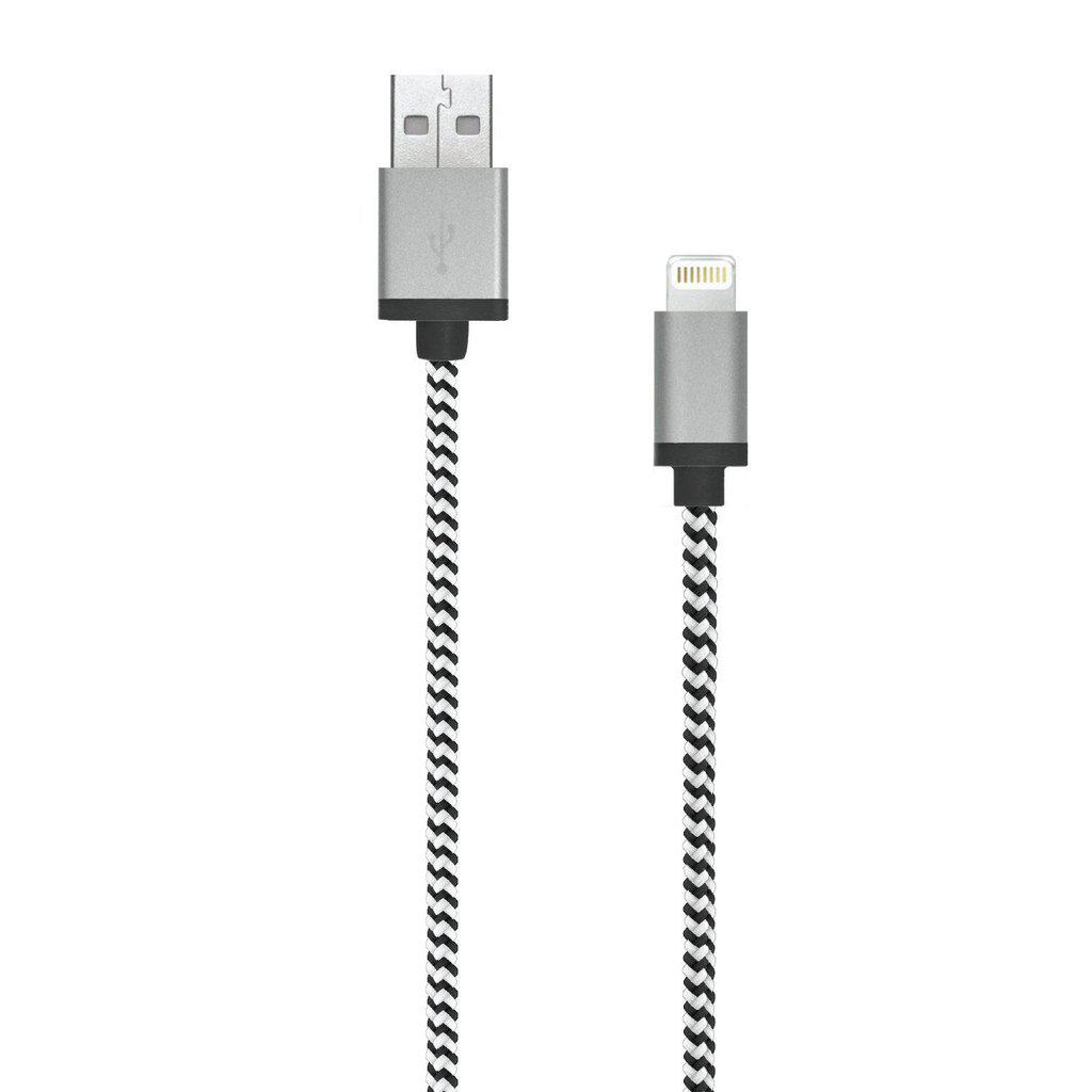 Braided Lightning Cable: 7ft - Jumpca1