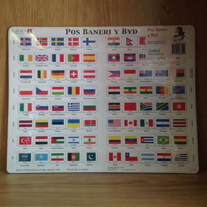 Jig-so: Baneri y Byd - World Flags Jigsaw