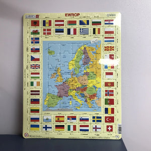 Jig-so: Map Ewrop - Europe map Jigsaw