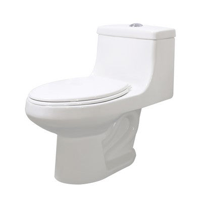 WC ONE PIECE SIENNA CATO BLANCO C/ASIENTO