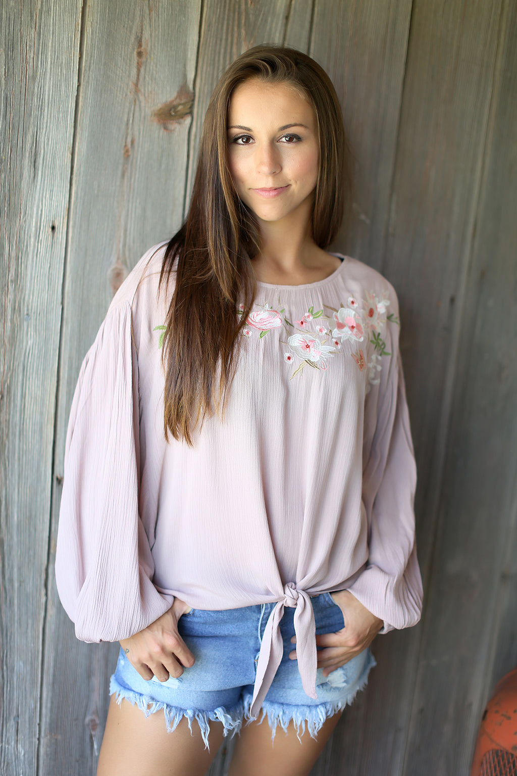 Emma Embroidered Top
