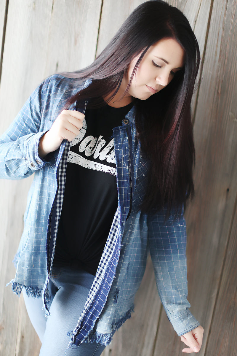 Ombre Washed Denim Jacket