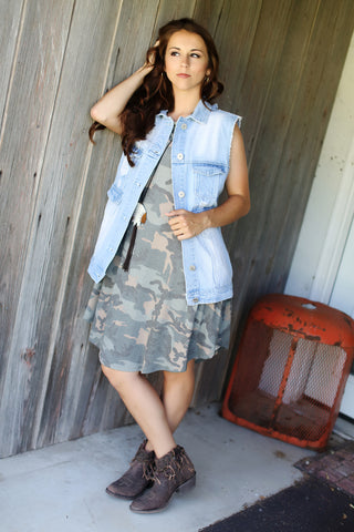 Camo Dreams Flutter Dress