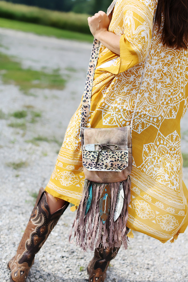 Boho Fringe Canvas Bag
