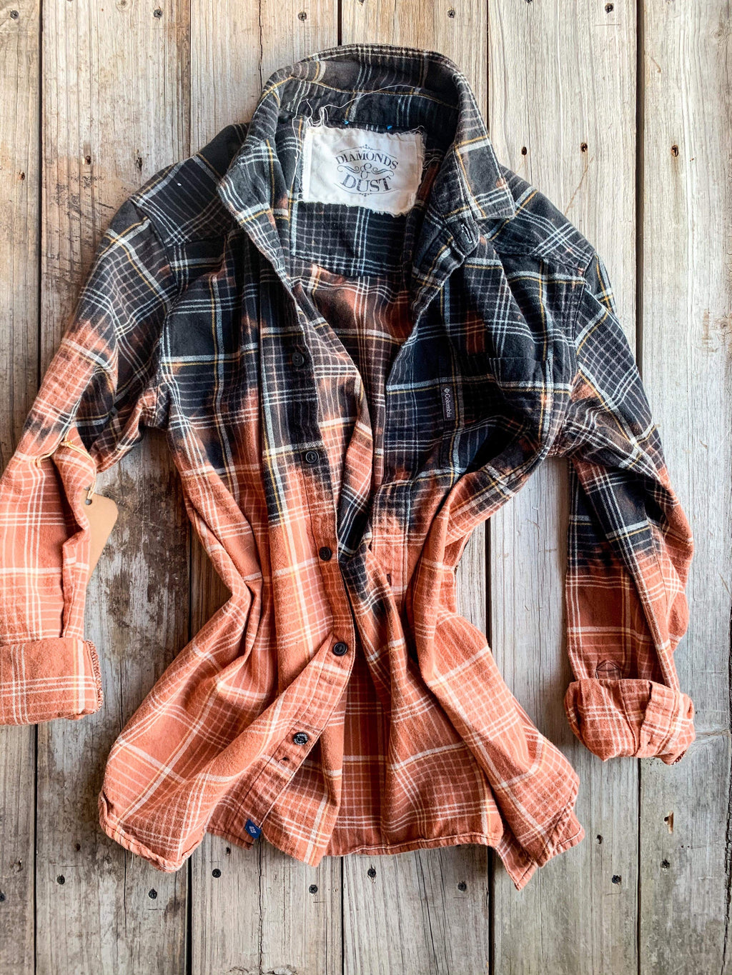 Vintage Black & Rust Flannel