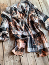 Vintage Black, White, Gray & Pink Flannel