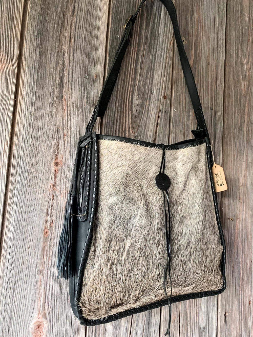 Hair on Hide Leather Purse