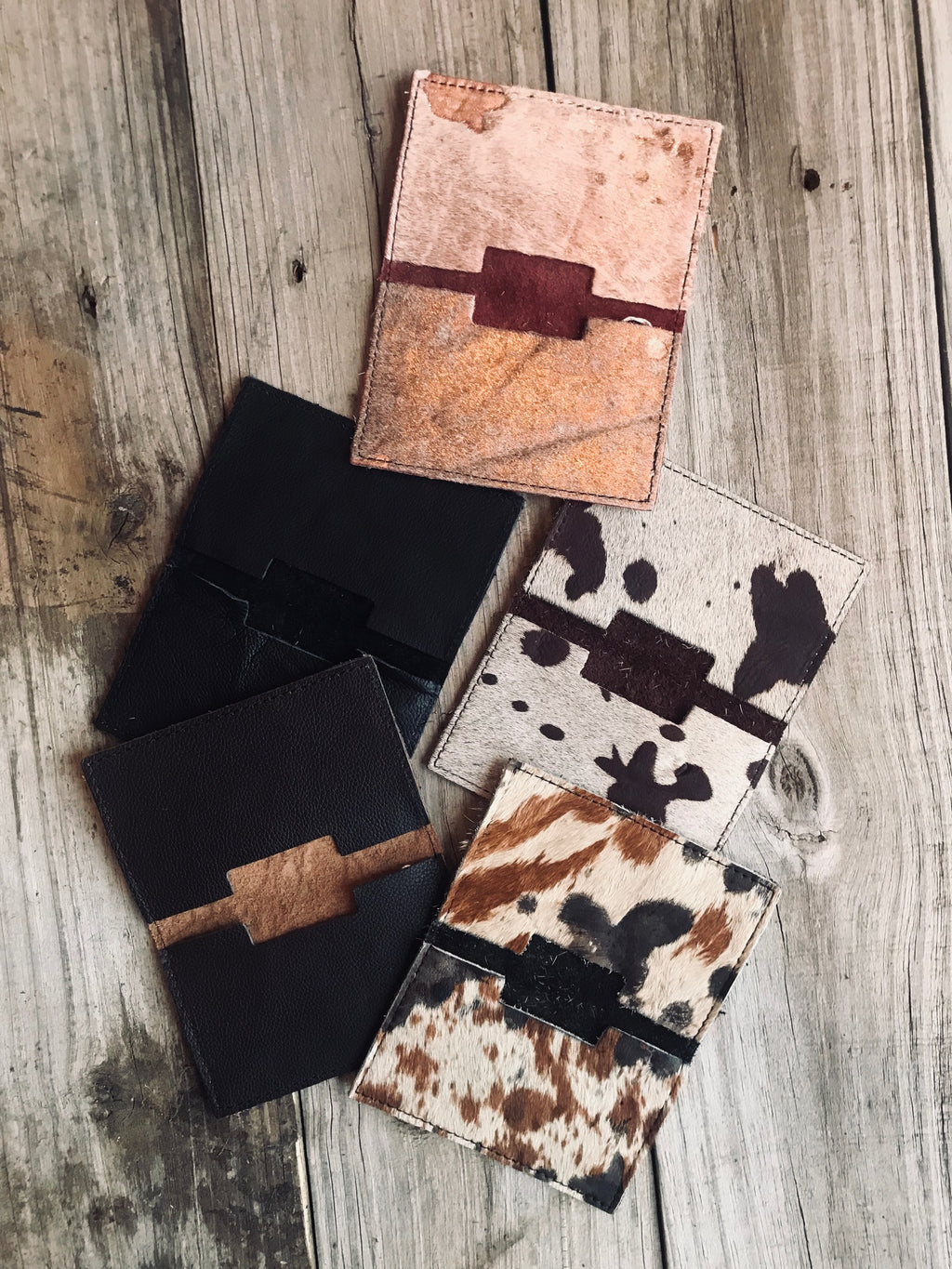 Mini Cowhide Card Holder
