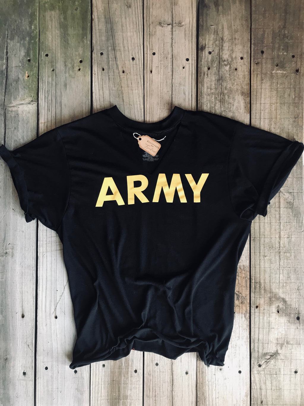 Distressed Army Tee