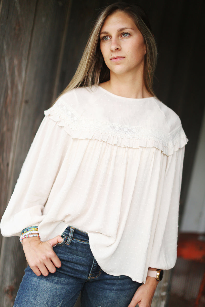 Lace Me Up Blouse