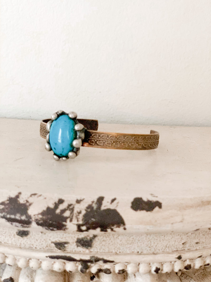 Turquoise Artisan Cuff - Small Band