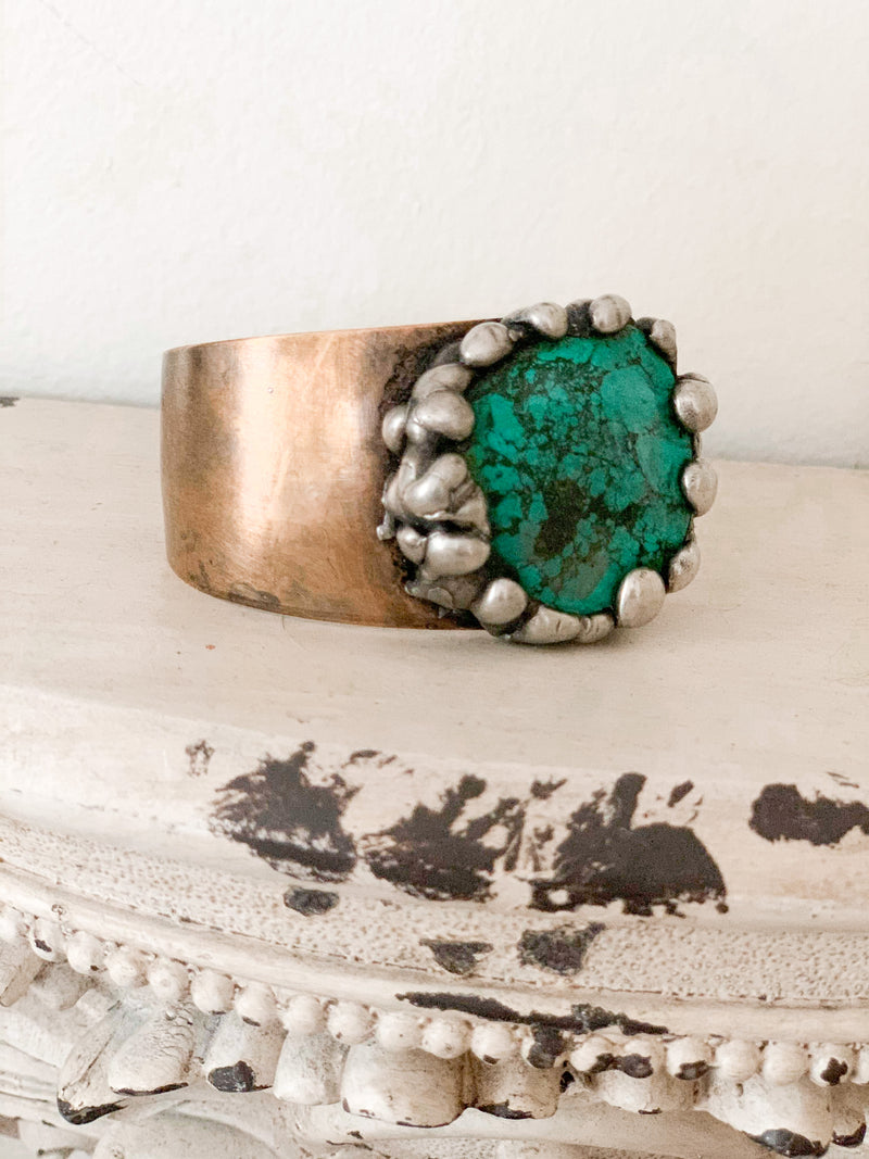 Turquoise Artisan Cuff - Medium Band