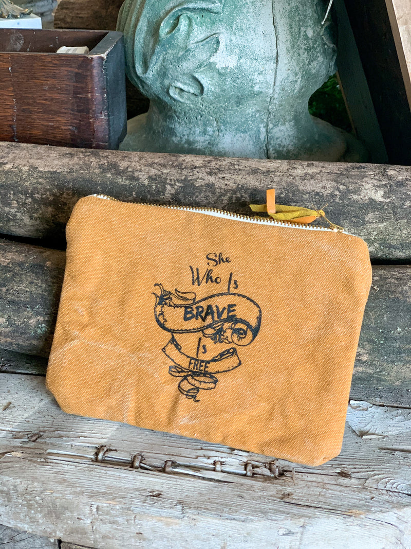 Brave Canvas Cosmetic Bag