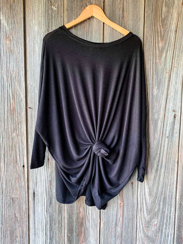 Celine Caftan Top- Black