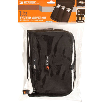 PROTEC Tuba 3 Piece Mouthpiece Pouch w/ Zipper Closure