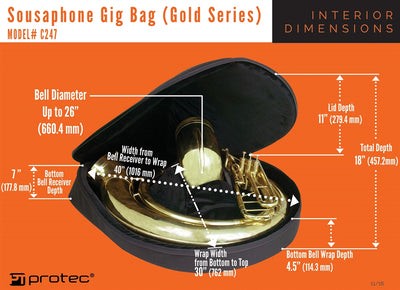 PROTEC Sousaphone Gig Bag - Gold Series
