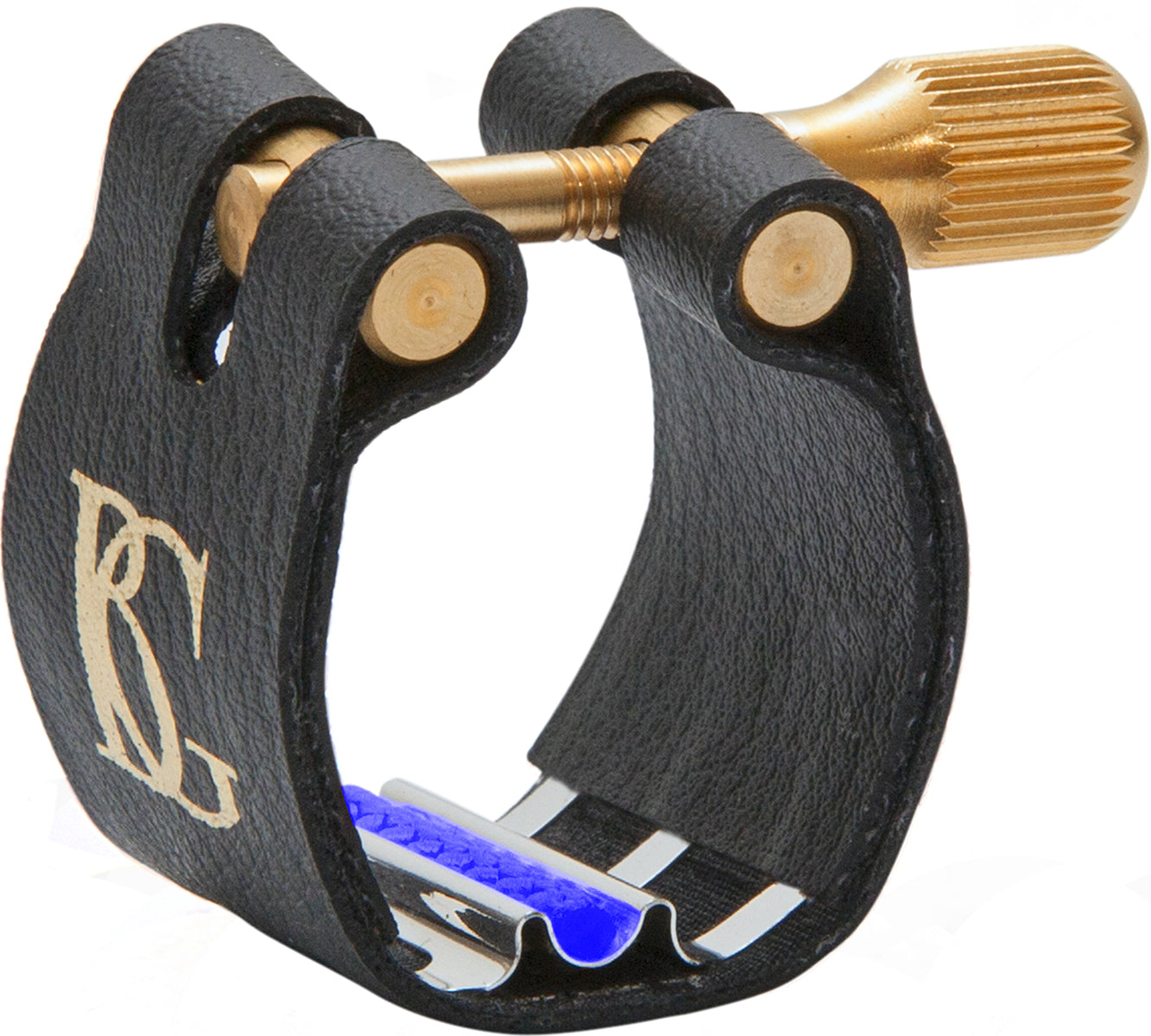 BG Ligature & Cap Alto Sax, Meyer Ebonite MP, Revelation Silver Jazz, Silver Plated Support, Blue Sling