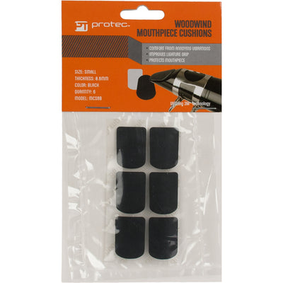 PROTEC Mouthpiece Cushion, 0.8mm, 6pc, Black