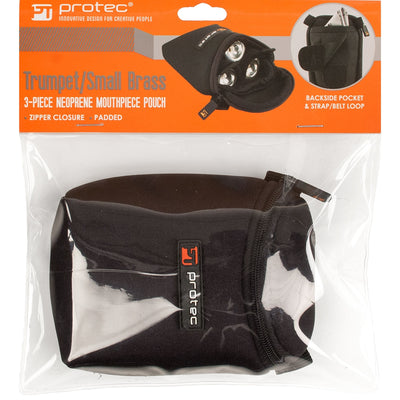 PROTEC 3pc Mouthpiece Pouch Neoprene - Trumpet