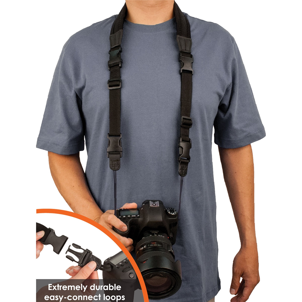 "PROTEC Neoprene Camera ""Less-Stress"" Neck Strap"