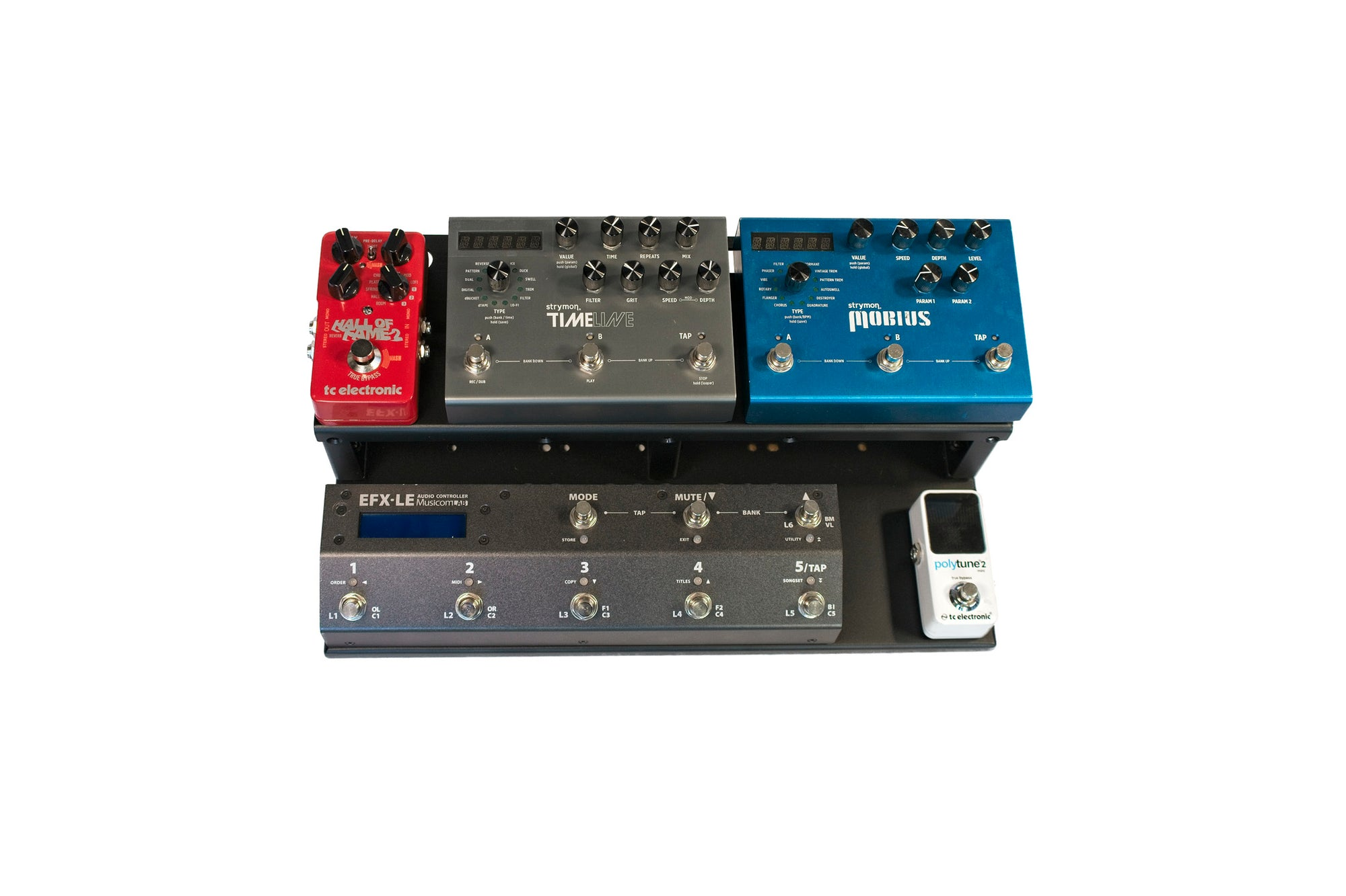 "VERTEX Travel Light Pedal Board (17""x10"")"