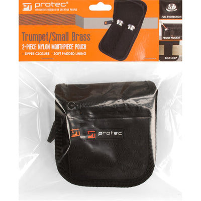 PROTEC Small Brass 2 Piece Pouch w/ Zipper Closure