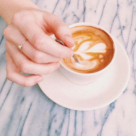 Life Set Sail - Triangle Geo Ring - Latte