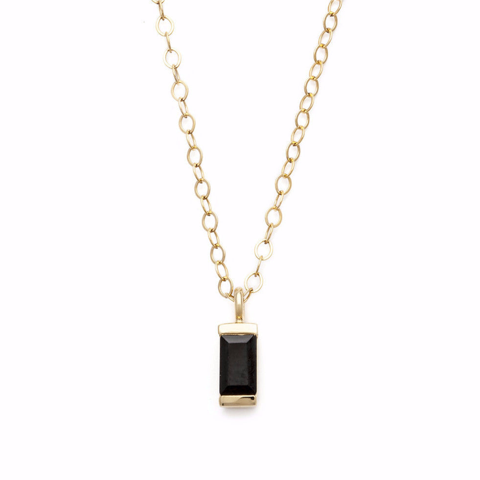Baby Brick Necklace - Black Spinel