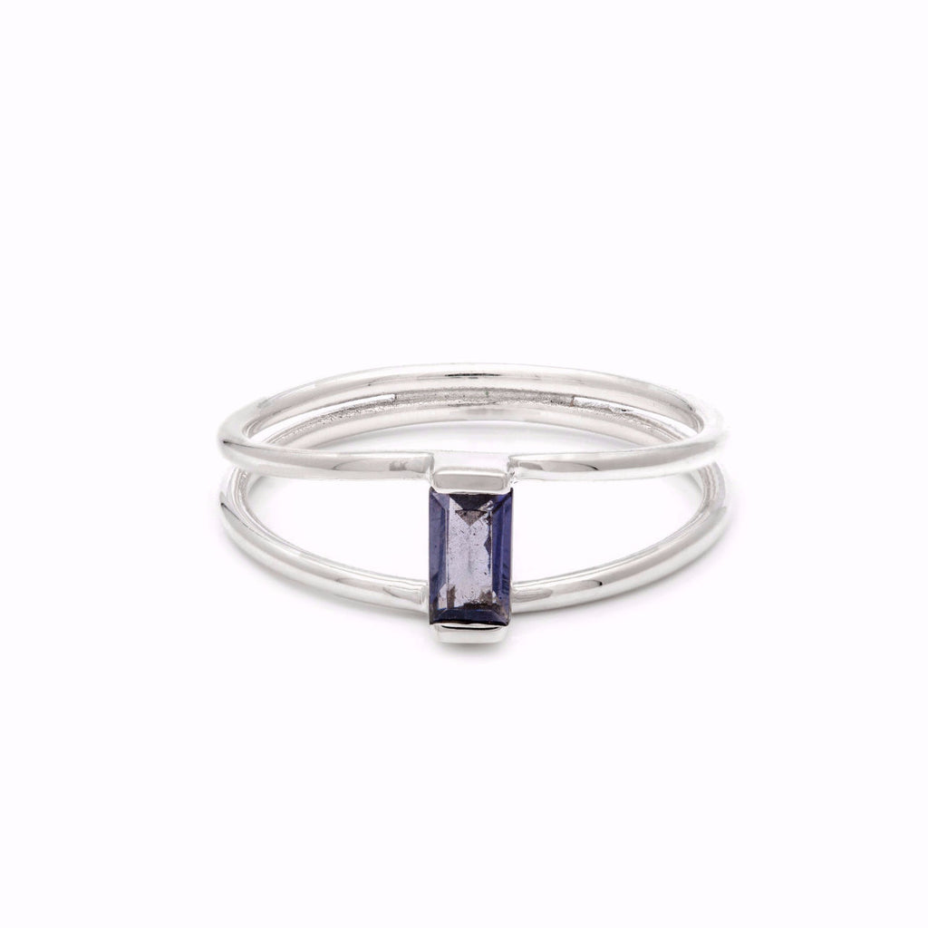Bridge Ring - Iolite