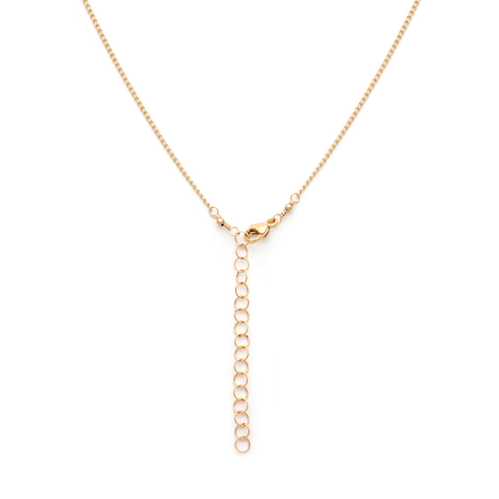 Curb chain necklace extender in gold