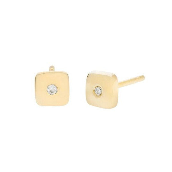 Geo Stud - Square - Gold - Diamond